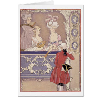 Women in a Theater Box, illustration from 'Les Lia Card