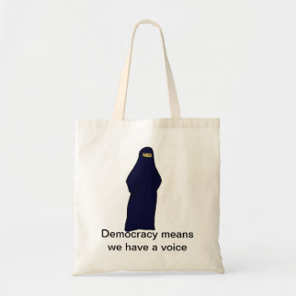 women in abaya color, Democracy means we have a...