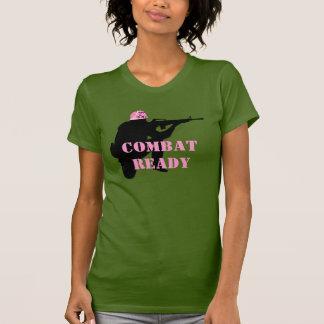 Women in Combat Pink Helmet T-Shirt