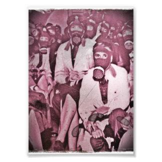 Women in Gas Masks Photo Print