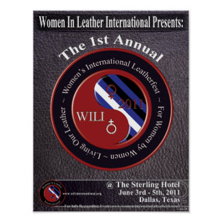 Women In Leather International Leather Fest Poster