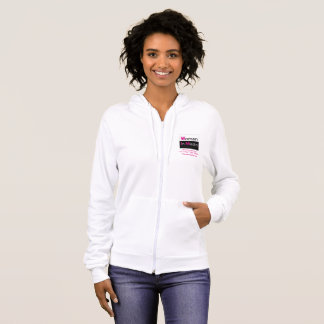Women In Media Zippered Sweat Shirt White