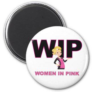 Women In Pink Magnet