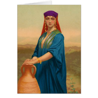 Women In The Bible - Rebekah, The Bride For Isaac. Card
