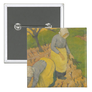 Women in the Vineyard, 1890 Pinback Buttons