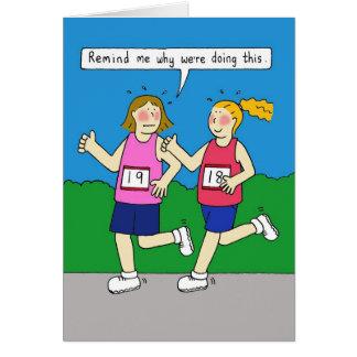Women jogging card