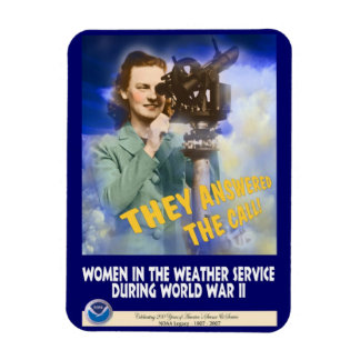 Women Joining the Weather Service WWII Magnet