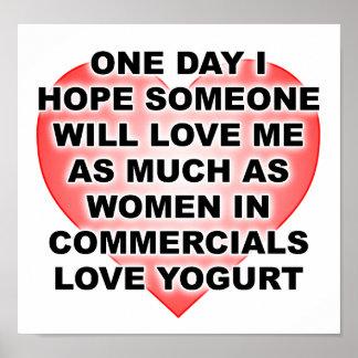 Women Love Yogurt Funny Poster