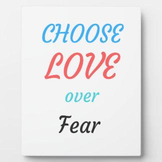 WOMEN MARCH CHOOSE LOVE OVER FEAR PLAQUE