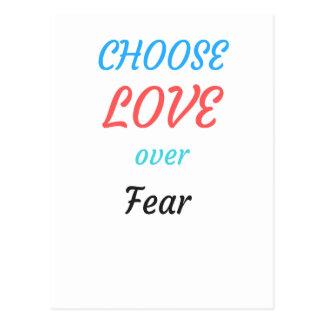 WOMEN MARCH CHOOSE LOVE OVER FEAR POSTCARD