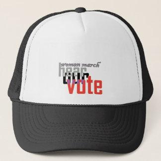 women march hear our vote san jose fransisco bay.p trucker hat