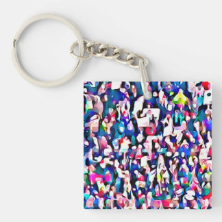 Women Marching Photo Protest 2017 Keychain