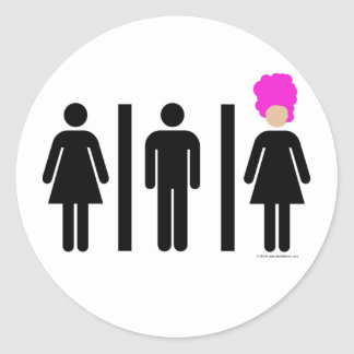 Women. Men. Drag Queens. Classic Round Sticker