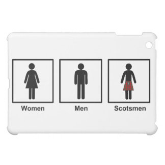 Women, Men, Scotsmen Humorous Toilet Signs iPad Mini Cover