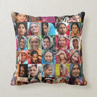 Women of India Throw Pillow