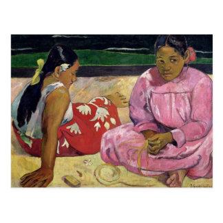 Women of Tahiti, On the Beach, 1891 Postcard