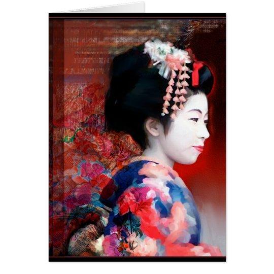 Women of the world: Geisha notecard