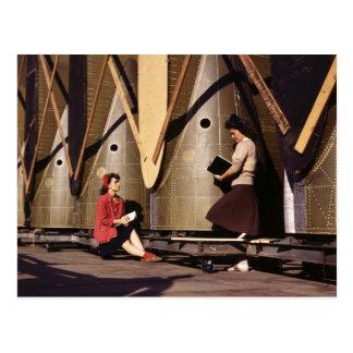 Women of WWII, 1940s Postcard