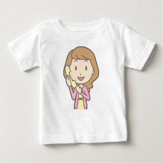 Women on Phone Baby T-Shirt