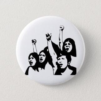 Women Power 2 Inch Round Button
