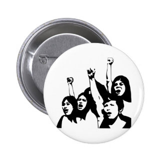 Women Power 2 Inch Round Button