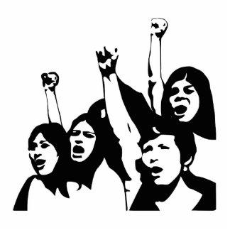 Women Power Standing Photo Sculpture