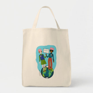 Women protecting Earth Tote Bag