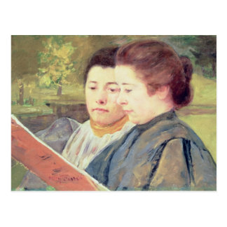 Women Reading Postcard