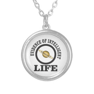 women rule intelligent life silver plated necklace
