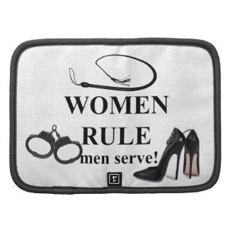 WOMEN RULE MEN SERVE FOLIO PLANNERS