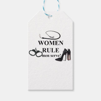 WOMEN RULE MEN SERVE GIFT TAGS
