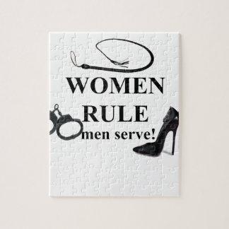 WOMEN RULE MEN SERVE JIGSAW PUZZLE