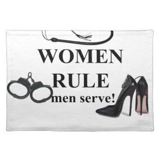 WOMEN RULE MEN SERVE PLACEMAT