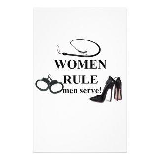 WOMEN RULE MEN SERVE STATIONERY DESIGN
