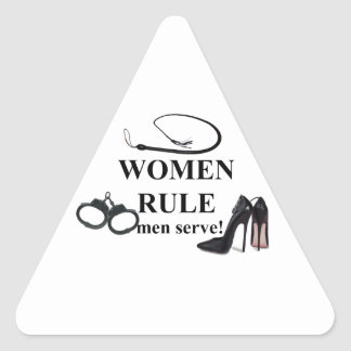 WOMEN RULE MEN SERVE STICKERS
