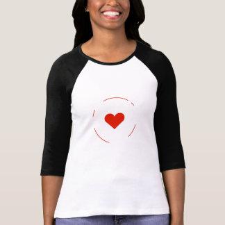 Women`s bella canva Heart t-shirt