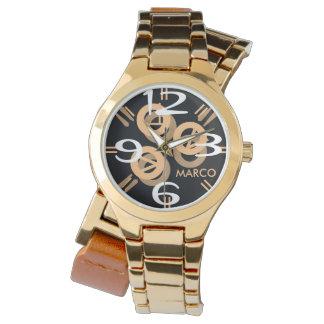 """Women""""s Oversized Two-Tone Bracelet Watch"""
