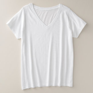 Women's Plus-Size V-Neck T-Shirt