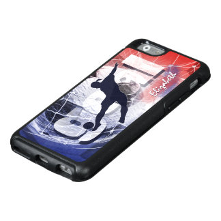 Women's soccer red white and blue OtterBox iPhone 6/6s case