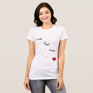 Women T-Shirt Canvas Short Sleeve White For Love
