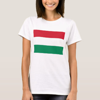 Women T Shirt with Flag of Hungary