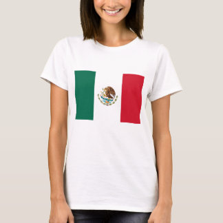 Women T Shirt with Flag of Mexico