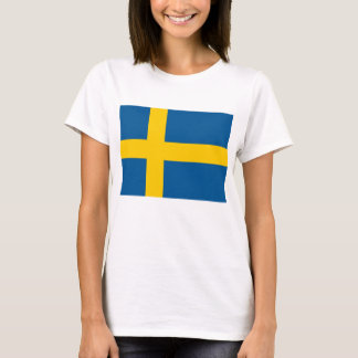 Women T Shirt with Flag of Sweden