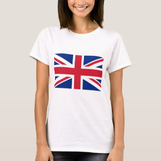 Women T Shirt with Flag of United Kingdom
