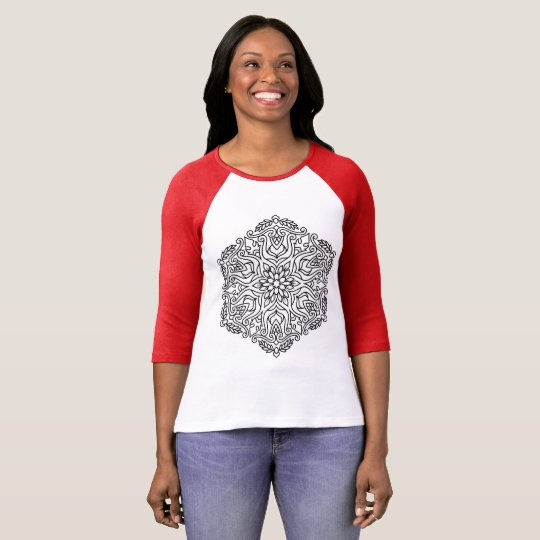 Women t-shirt with Mandala art