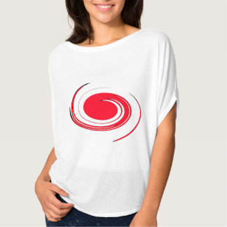 women t shirt with red spin color on the front