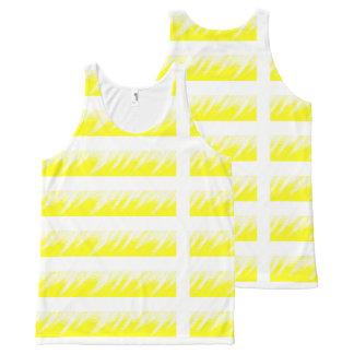 Women Tank Top Yellow White custom