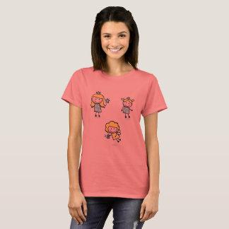 Women tshirt with Doodle Kids