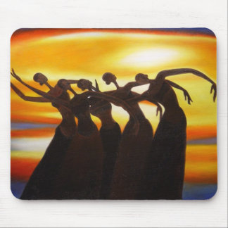 Women Unite under the Sunset African Art Mousepad