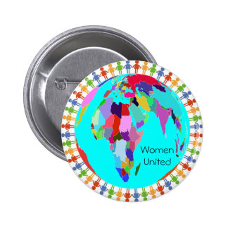 Women United Design 2 2 Inch Round Button